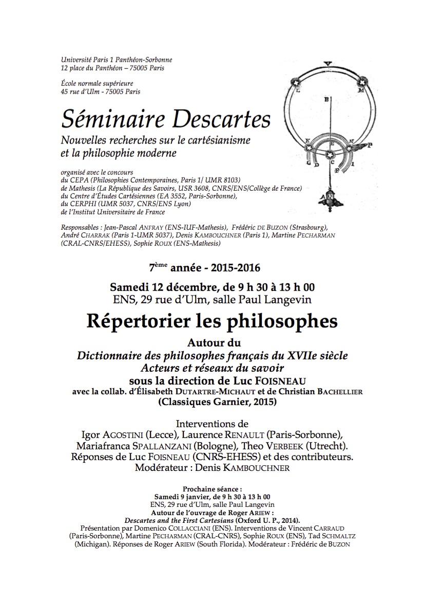 Séminaire Desc. 12.12.2015